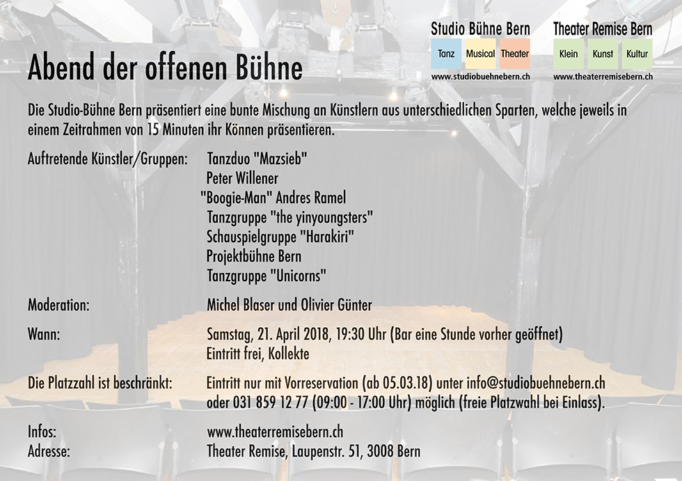 Flyer Offene Buhne 2